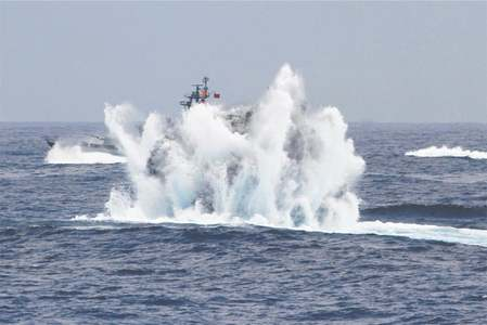 Taiwan navy holds drill amid China tensions