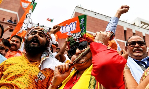 'India wins again' says Modi; BJP set to secure historic victory in general election as votes are counted