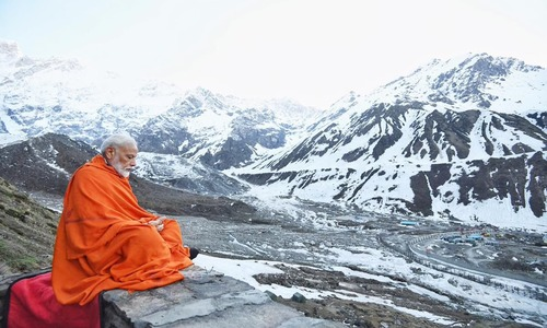 India's Modi paints image of Hindu ascetic called to power
