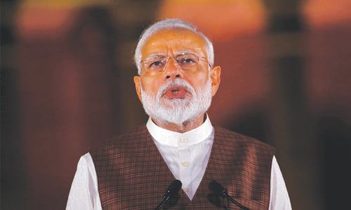 Modi woos Muslims in speech as house leader