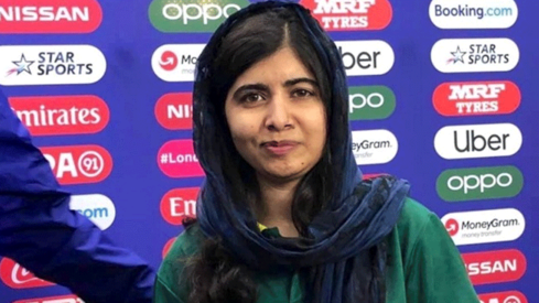 Malala Yousafzai's having a ball at the ICC World Cup's opening ceremony