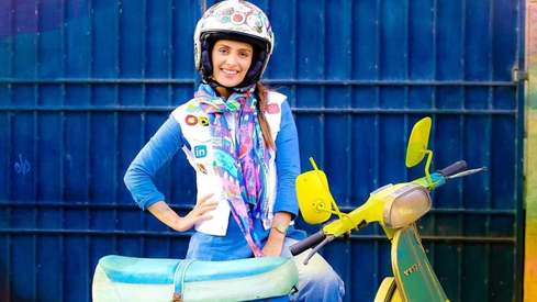 Ayeza Khan is riding away from gender stereotypes in Vespa Girl