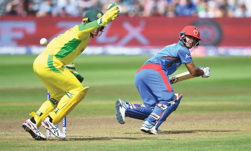 Afghanistan dig deep to post 207 against world champions