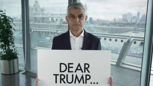 Your values are the opposite of the values in this country, says Sadiq Khan to Donald Trump