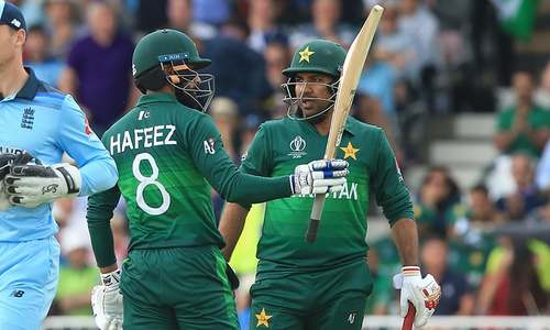 Hafeez brings up his 50. — AFP