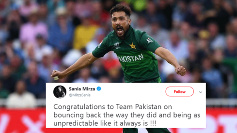 Sania Mirza congratulates Pakistan's 'unpredictable' cricket team