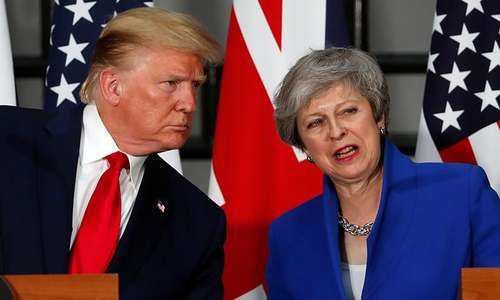 Trump promises May 'very substantial' trade deal after Brexit