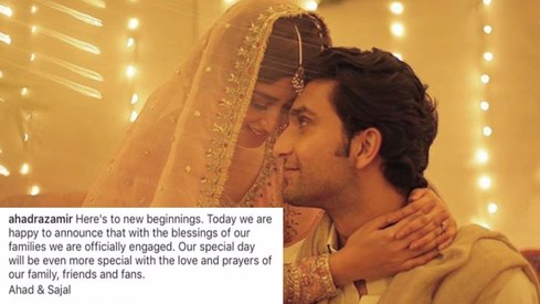 Ahad Raza Mir and Sajal Aly are now engaged!