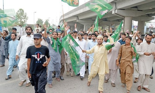 PML-N holds demos against Hamza's arrest