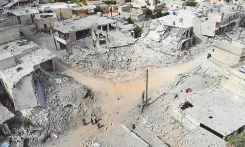 Russian, govt planes strafe Syria's north-west, kill 28