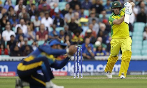 Finch powers Australia to 334-7 in World Cup match against Sri Lanka