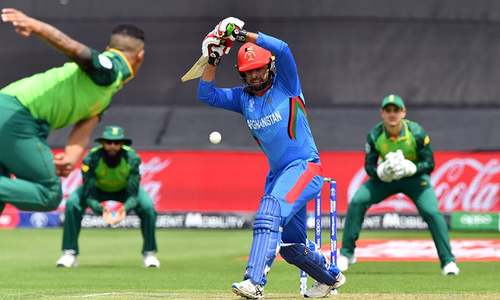 Afghanistan 69-2 after 20 overs in rain-delayed match against South Africa