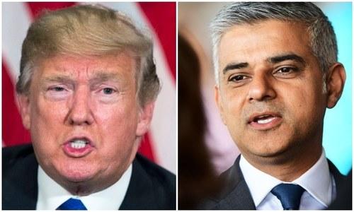 ڈونلڈ ٹرمپ کی ایک مرتبہ پھر لندن کے میئر پر تنقید