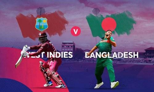 ورلڈکپ: بنگلہ دیش کی ویسٹ کے خلاف ٹاس جیت کر باؤلنگ