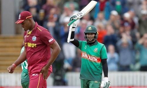 ورلڈکپ: شکیب کی شاندار کارکردگی، بنگلہ دیش نے ویسٹ انڈیز کو شکست دے دی