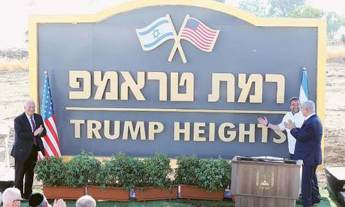Editorial: Behold Trump Heights — the latest real estate development on occupied Arab land