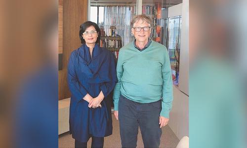 ثانیہ نشتر کی بل گیٹس سے ملاقات، پاکستان میں ترقیاتی کاموں پر تبادلہ خیال