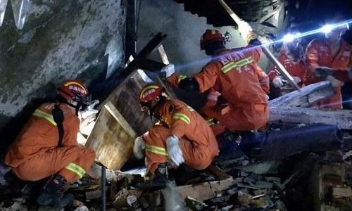 چین میں زلزلہ، 12 افراد ہلاک، 134 زخمی