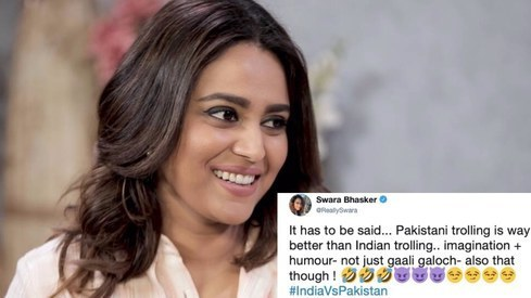 Pakistan may have lost the cricket match but their trolls won Twitter, says Swara Bhasker