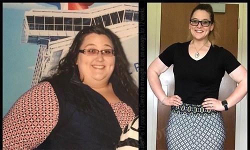 2 سال میں 152 کلو وزن کم کرنے والی خاتون