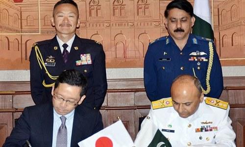 پاکستان اور جاپان میں دفاعی تعاون بڑھانے کا معاہدہ
