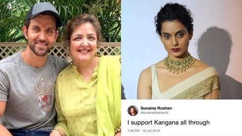 I support Kangana all the way through, says Hrithik Roshan's sister Sunaina