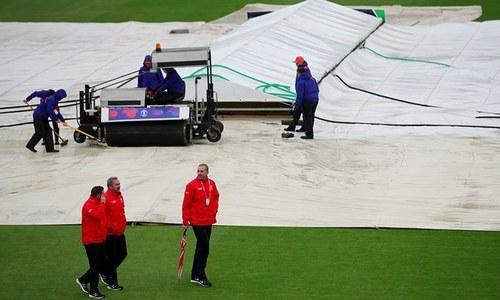 بارشوں میں بھیگتا کرکٹ ورلڈ کپ 2019ء