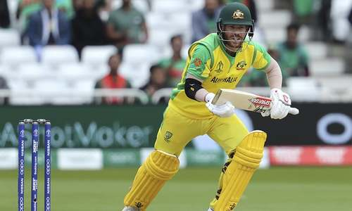 Bangladesh get breakthrough after Sarkar dismisses Finch in World Cup match against Australia