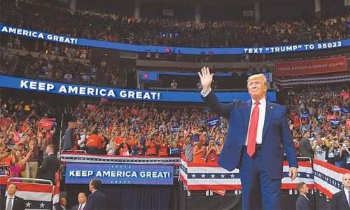 ڈونلڈ ٹرمپ کا دوسری مدت کیلئے انتخابی مہم کا باقاعدہ آغاز