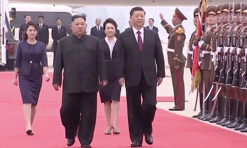 چینی صدر شی جن پنگ کی شمالی کوریا کے سربراہ کم جونگ اُن سے ملاقات