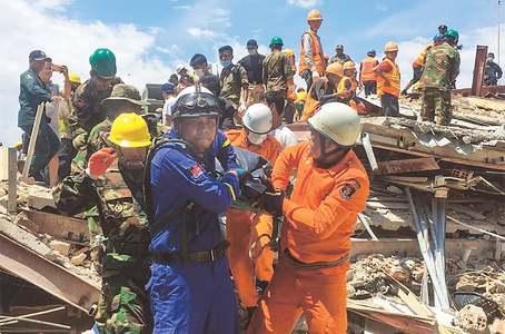 Seven dead in Cambodia building collapse