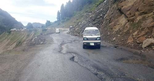 Balakot-Naran road in bad shape