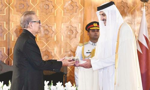 Pakistan, Qatar vow to work for regional peace