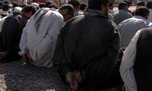 Over 100 suspects taken into custody in Balochistan