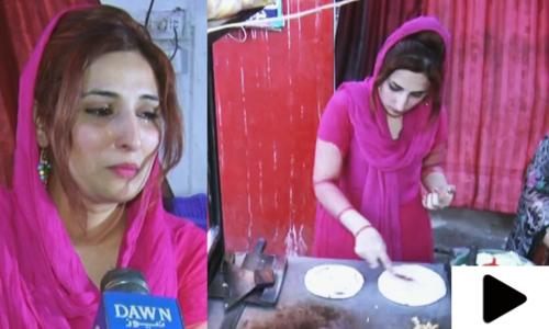 والدہ کے ساتھ برگر اور شوارما فروخت کرتی باہمت لڑکی