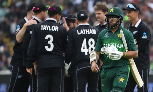 50 up for Pakistan as they pursue 238-run target set by New Zealand