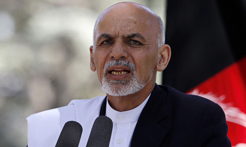 Afghan President Ghani arrives to intensify peace efforts
