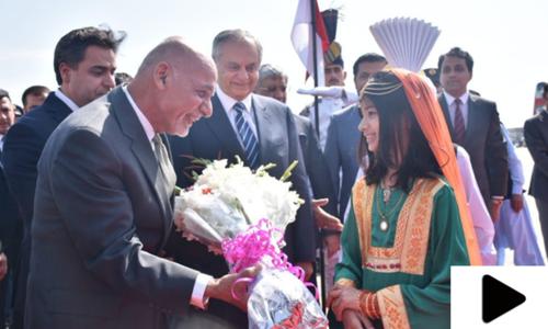 افغان صدر اشرف غنی کی پاکستان آمد کے مناظر
