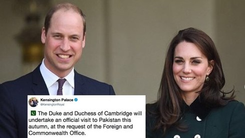 Prince William and Kate Middleton are headed to Pakistan