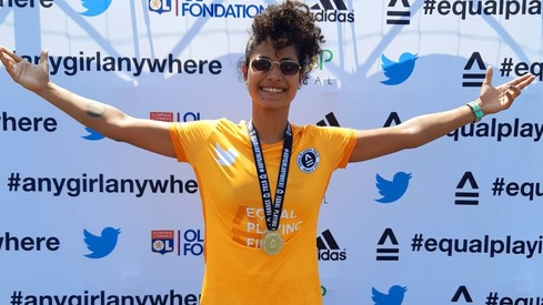 Footballer Hajra Khan gets a Guinness World Records hat-trick
