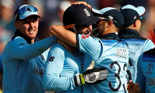 England crush New Zealand with 119-run victory to reach World Cup semi-finals