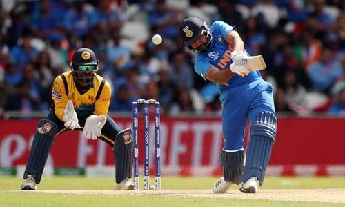 Sharma hits record fifth World Cup ton as India humble Sri Lanka