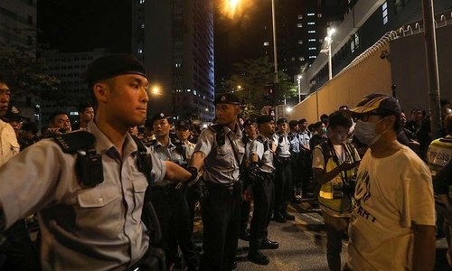 'Dancing aunties' spark new Hong Kong protest