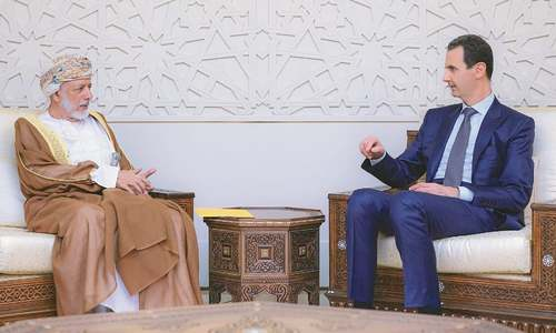 Omani FM meets Assad in rare Syria visit