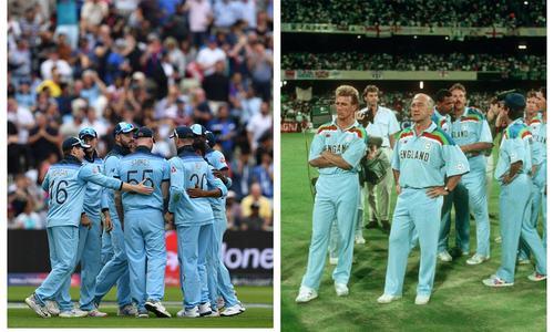 انگلینڈ کو 1992 کے ورلڈ کپ کی جرسی سے مماثلت راس آ گئی، 27سال بعد فائنل میں
