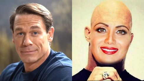 Why did John Cena put up a picture of Shilpa Shetty morphed onto Stone Cold?