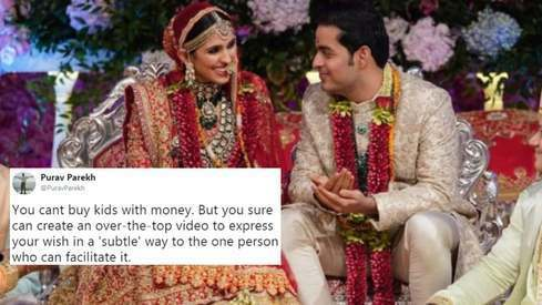 The Ambani's bizarre birthday video for their daughter in law is a gift for the rest of us