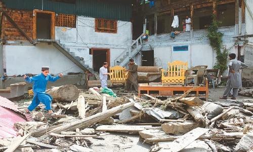 Flash floods wreak havoc on AJK village; 22 killed