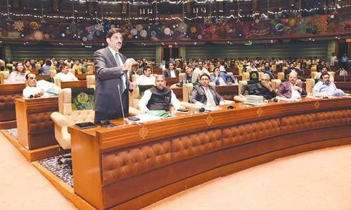 Uproar in Sindh Assembly after deputy speaker rejects PTI leader's motion