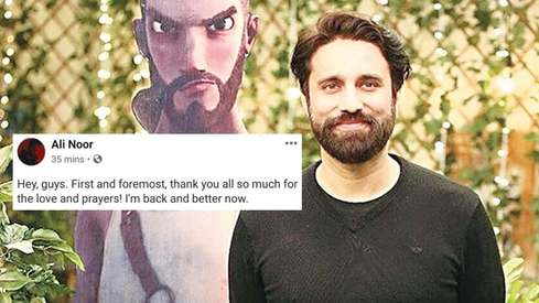 Ali Noor thanks fans for the all the love and prayers